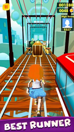 Subway Girl Runner Surf Game  screenshots 6