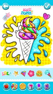 Glitter Ice Cream Coloring 5.4 Screenshots 2