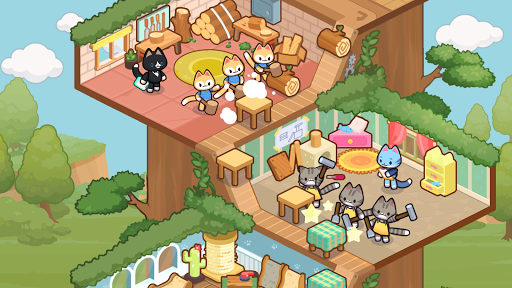 Idle Cat Tycoon : Furniture Craft Shop screenshots 5