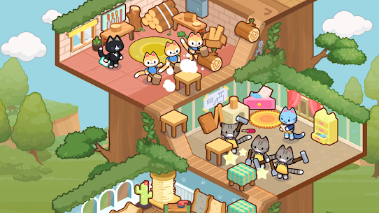 Idle Cat Tycoon : Furniture Craft Shop MOD APK 1.0.3 (Unlimited Gold) 5