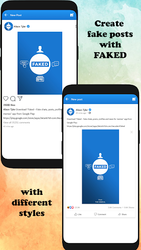 Foto do Faked - Fake chats, profiles and news for memes
