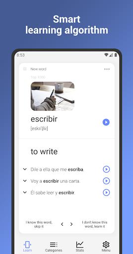 Learn Spanish Language: Learning Flash Cards apktram screenshots 2