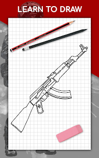 How to draw weapons step by step, drawing lessons 1.6.4 Screenshots 9