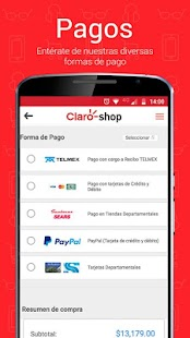 Claro shop Screenshot