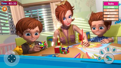 Télécharger Gratuit Virtual Mom Simulator 3D: Dream Family Mother Life  APK MOD (Astuce) screenshots 1