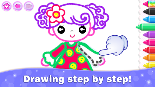 Kids Drawing Games for Girls! Apps for Toddlers!  screenshots 11