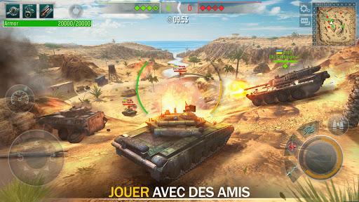 Tank Force: Chars 3D en ligne APK MOD – Monnaie Illimitées (Astuce) screenshots hack proof 1