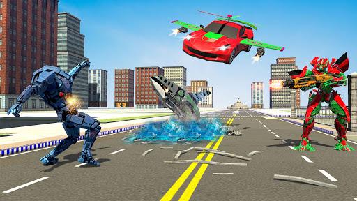 Mega Robot Games: Flying Car Robot Transform Games 2.9 screenshots 1