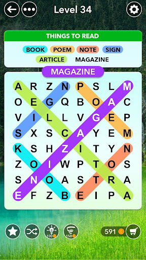 Word Search - Classic Find Word Search Puzzle Game 1.9 Screenshots 1
