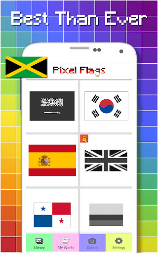 Flags Color By Number - Pixel Art  screenshots 4