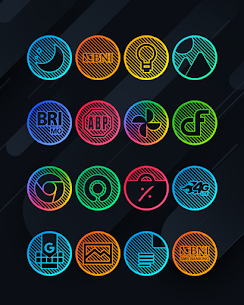 Lines Circle APK- Neon Icon Pack [PAID] Download for Android 1