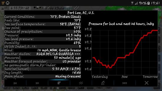 NOAA doppler radar with weather alerts - eMap HDF