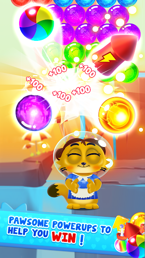 Space Cats Pop - Kitty Bubble Pop Games apkmr screenshots 6