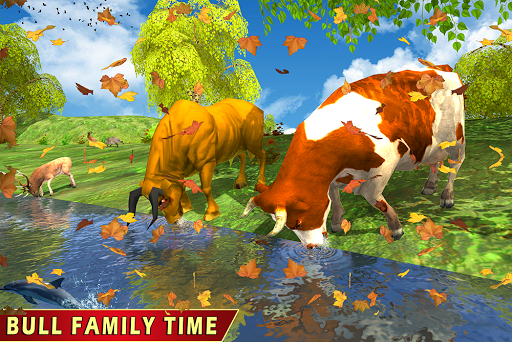Wild Bull Family Survival Sim apkpoly screenshots 10