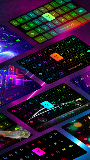 LED Keyboard - RGB Lighting Keyboard, Emojis, Font  Screenshots 18