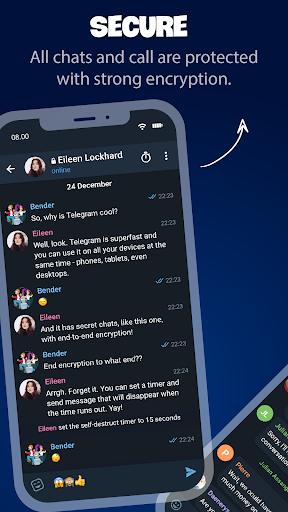 Tele Messenger Chats & Calls Free modavailable screenshots 3