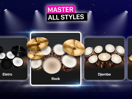 Drums: real drum set music games to play and learn apktram screenshots 15