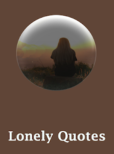 Lonely quotes 1.0 MOD for Android (Unlocked) 1
