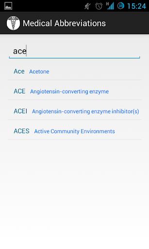 Medical Abbreviations 1.2.4 Screenshots 2