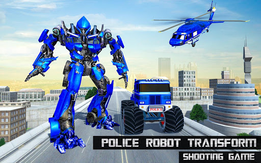 US Police Monster Truck Robot 4.0 Screenshots 14