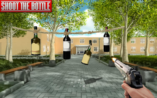 Real Bottle Shooting Free Games: 3D Shooting Games android2mod screenshots 4