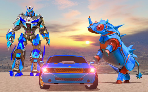 Rhino Robot Car Transformation: Robot City battle 0.6 screenshots 3