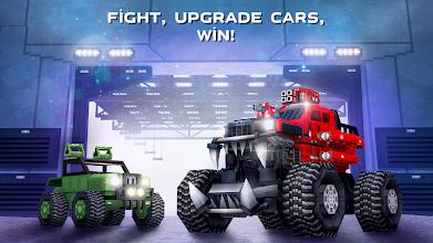 Blocky Cars - tank wars & shooting games screenshot thumbnail