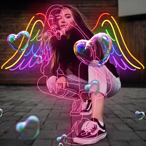 Instasquare Photo Editor: Drip Art, Neon Line Art