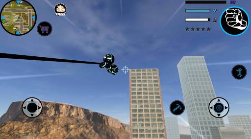 Neon Iron Stickman Rope Hero City Gangstar Mafia  Screenshots 6