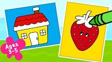 子供用 塗り絵ゲーム - お絵かき&塗り絵ブックのおすすめ画像1