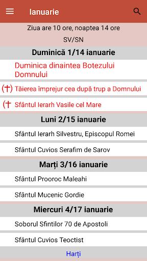 Calendar ortodox de stil vechi  Screenshots 2