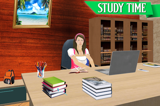 Virtual School Girl Simulator: High School Game apktreat screenshots 2