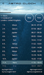 Astro Clock (planet hours)
