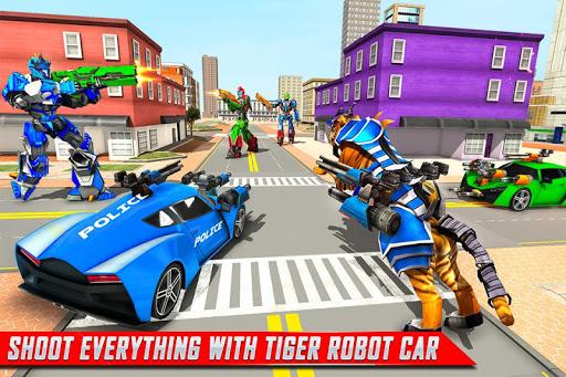 US Police Tiger Robot Game: Police Plane Transport 1.1.9 screenshots 4