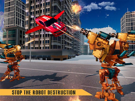 Flying Robot Car Games - Robot Shooting Games 2020 2.1 screenshots 6