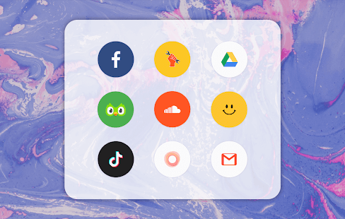 Pure Icon Pack: Minimalist & Colorful & Clean Screenshot