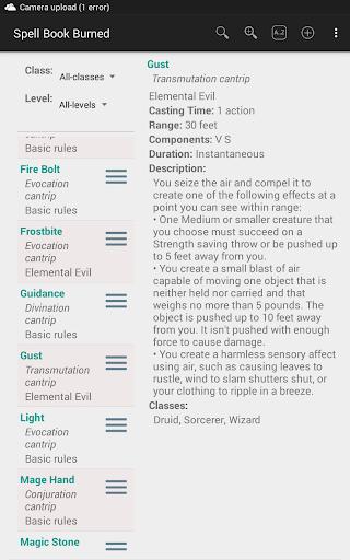 5th Edition Spellbook Burned  screenshots 11