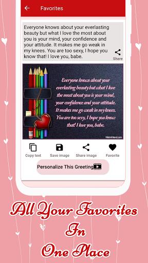 Code Triche Love Messages for Girlfriend ♥ Flirty Love Letters (Astuce) APK MOD screenshots 2