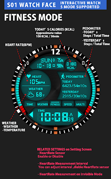 S01 WatchFace for Android Wearのおすすめ画像5