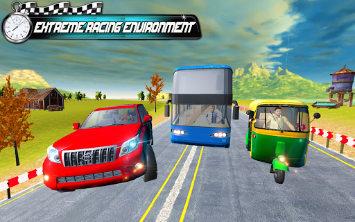 Prado vs Tuk Tuk Auto Rickshaw Racing  screenshots 2
