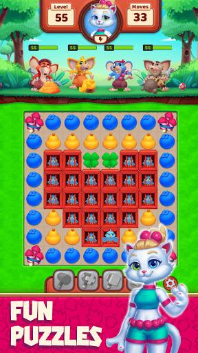 Cat Heroes - Color Match Puzzle Adventure Cat Game  screenshots 2