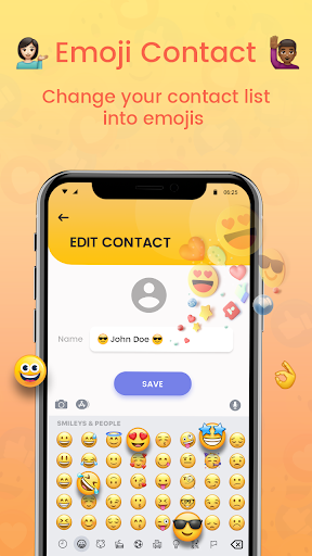 Emoji Contacts : Add Emojis To Contacts android2mod screenshots 4