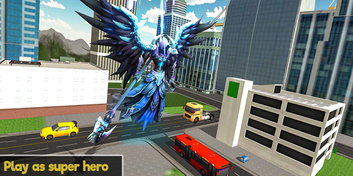 Flying Angel Superheroes Battle 2020 - Crime Time  screenshots 1