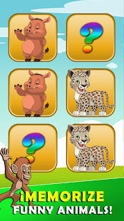 Brain game with animals