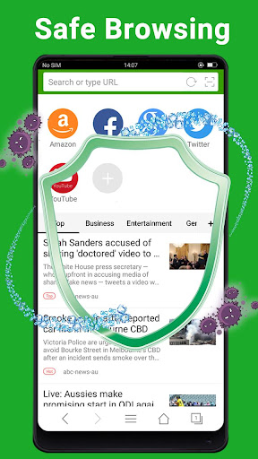 Web Browser - Fast, Private & News 1.6.3 Screenshots 5