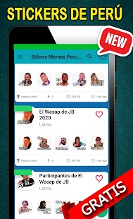 Wastickerapps Memes Peruanos - Stickers de Peru Screenshot
