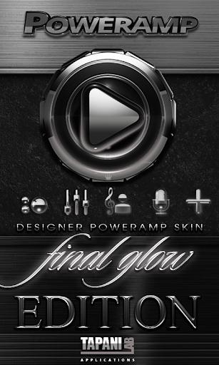 poweramp skin silver glow screenshot 1