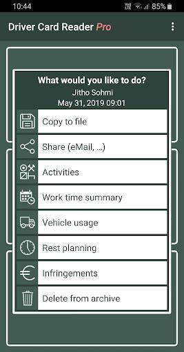 Driver Card Reader  Screenshots 2