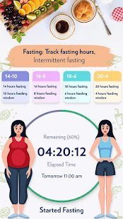 Fasting: Track fasting hours, Intermittent fasting