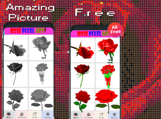 Rose Flower Pixel Art-Color By Number New 2021  screenshots 2